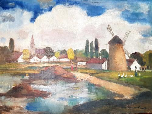 Béla Iványi-Grünwald, Dedina s mlynom