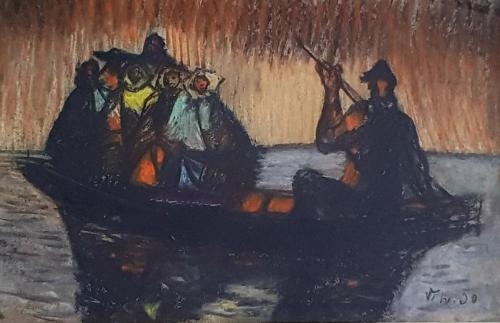Hložník Vincent,  V člne