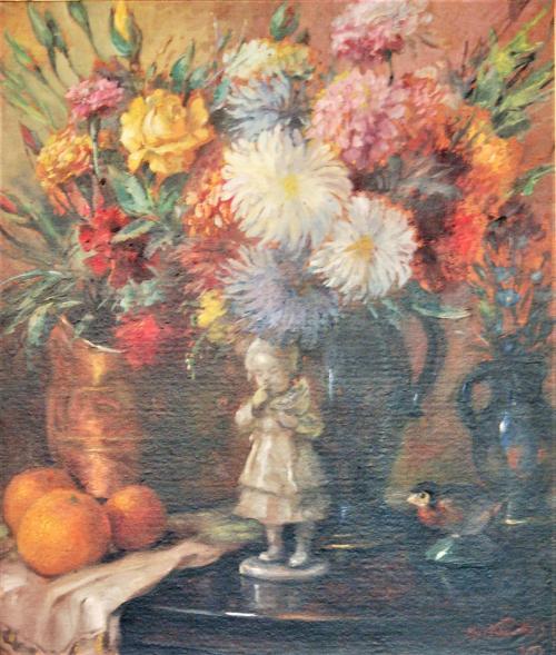 Max Kurth, Zátišie s porcelánovou figúrkou